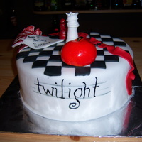 Twilight Cake this is a cake i made for my 12 years old neice. She is currently reading the books and loving them. I did the cake based on the book...
