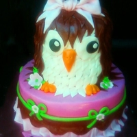 Cutey Owl I came up with this owl cake based on the clients invitation.