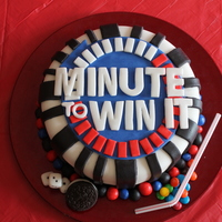 Minute To Win It Cake All fondant, except M&M's and straw