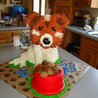 Dog Gone It Another Birthday!!  a woman's daughter wanted a cake for her mom to match her dog....this is what i came up with all edible...she LOVED it she actually...