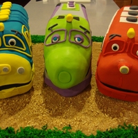 Chuggington Trains 3 different flavored cakes made for my son's 3rd birthday tfl all edible