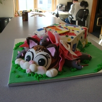 Cats Out Of The Bag   birthday cake for a young lady