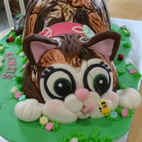 Young Lady's Birthday Cake  she wanted her cake as a cake so i made it in the likeness of her cat semper, i borrowed the idea from someone here on cc but i hope i did...