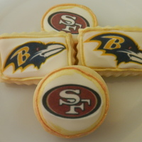 Superbowl 2013 NFSC with royal and an edible image.
