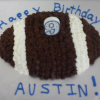 Titans Birthday Party   Chocolate Football Cake for the Chocolate Lovers at a Titans Football Party for my son's 9th Birthday. Thanks For Looking :-)