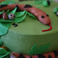 Snake Cake   Snake cake for a reptile birthday party.