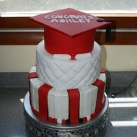 St Johns Graduation Made for a friend graduating from St. Johns with Masters in Special Ed. Red Velvet cake with Bourbon Cream Cheese filling covered in...