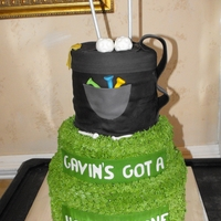 Grooms Golf Grooms Golf Cake is Pina Colada with Coconut whipped cream filling covered in fondant.