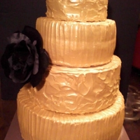 Gold Black Rose Wedding Midas Touch I used Duff's Edible Gold spray on top of Wilton's Golden Yellow and a touch of brown.