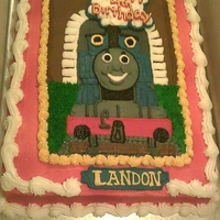 Thomas The Train All buttercream- Free hand- TFL!