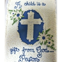A Child Is A Gift From God! Buttercream with fondant flowers...TFL
