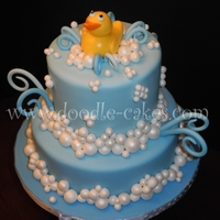 Everything's Just Ducky! Everything's Ducky! Yellow Rubber Duck themed Bday cake. Everything edible..And, yes...Even the DUCKY!