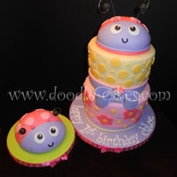 Mad Hatter Style Ladybug Cake/smash Cake Made to match the theme of the party with matching decor.