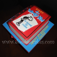 Diary Of A Wimpy Kid Cake Cake to made to look like the best selling novel.