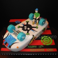 Skateboard Cake Everything edible as usual :) TFL