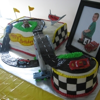 Cars Birthday Cake did a Cars race track cake for my son's 4th birthday party - was definitely inspired by cakes seen here on CC - lots of work, but it...