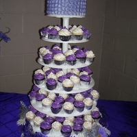 Cupcake Tower My daughters Quinceanera's cupcakes