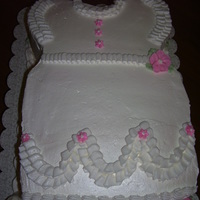 "Baby Girl Dress Cake Cake for a baby shower. Inspired by a cake I saw on this website made by ""DSWEET""."