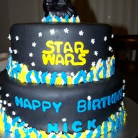 Star Wars Cake Inspired By Another Here On Cc Star Wars cake - inspired by another here on CC.