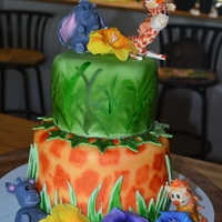 Jungle Themed Baby Shower Cake   Jungle themed baby show cake based on some material I was shown