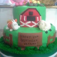 Farm Cake *Farm cake for an 89th birthday party.
