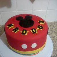 Mickey Mouse Cake All Fondant Work   *Mickey Mouse cake. All fondant work.
