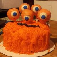 Halloween Cakes *Monster Cake with cake pop eyes