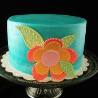 Stitched Flower Cake