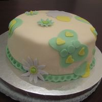 Img_0918.jpg LEMON CAKE WITH STRAWBERRY SAUCE FILLING, LEMON BC AND FONDANT, DECORATION 50% FONDANT AND 50% GUM PASTE. MADE THE CAKE JUST TO PRACTICE,...