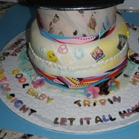 Wild Psychedelic 60's Themed Cake