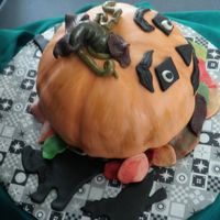 Thanksgiving Jack O Lantern Cake