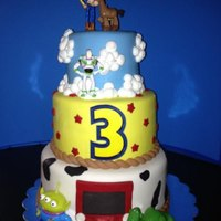 Toy Stoy Cake *Toy Story Cake fondant and royal icing