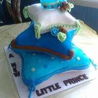My New Prince Pillow cake using wilton's cake pan set for a baby shower.