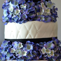 Hydrangea Cake The flowers are artificial.