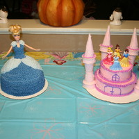 Cinderella & Castle Cakes Two cakes for my princess' 5th birthday