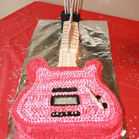 Rock N Roll Guitar Cake My twins 14th bday was all about ROCK!