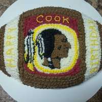 Skins Birthday Football Cake