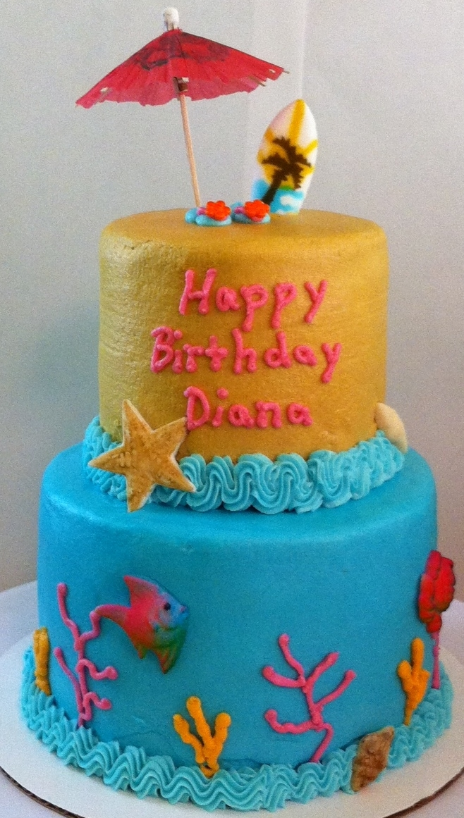Sand And Surf Mini Tiered Cake Sand and Surf Mini tiered cake