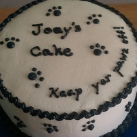 Pawz Off Cake for a young adult returning from military training - mom said was craving my delicious cake! He wanted one all to himself waiting for him...