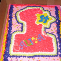 Ist Birthday This cake was made from the birthday girl's invitation.