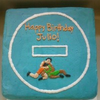 High School Wrestling Birthday Cake