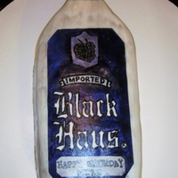 Black Haus Smash Cake Small smash cake made to look like a bottle of Black Haus