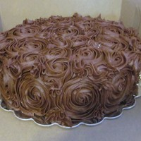 Chocolate Rosette Cake Saw this online and also on CC and loved it so I did it in chocolate!