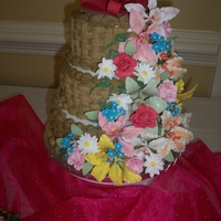 Garden Shower Cake This was a cake I did for my niece's garden themed wedding shower