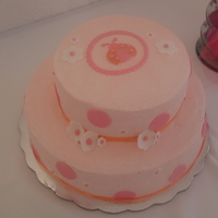 Lady Bug Cake pi?a colada cake, philadelphia icing, and fondant accents.
