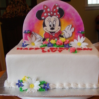 Double Sided Cake One Side Minni Mouse And Other Side Jake From The Neverland Pirate Buttercream Cake With Fondant Design Double sided cake. One side Minni Mouse and other side Jake from the neverland pirate. Buttercream cake with fondant design.