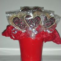 Cookie Bouquet NFSC with white and semi-sweet chocolate and sprinkles