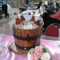 Bucket O' Beer Display cake I did for a bridal show. Wanted to do something fun for the grooms. Everybody loved it.