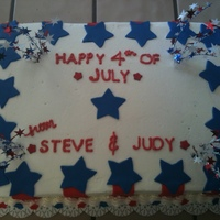 4Th Of July Cake Stole some awesome ideas from this site! Chocolate cake with buttercream icing fondant accents
