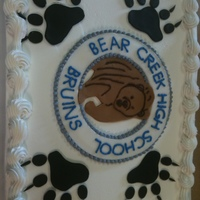 "Bear Creek High School This was a ""cheat"" cake. My friend asked me if I could make a cake for 150 people for their sons grad party. I had no time BUT..."